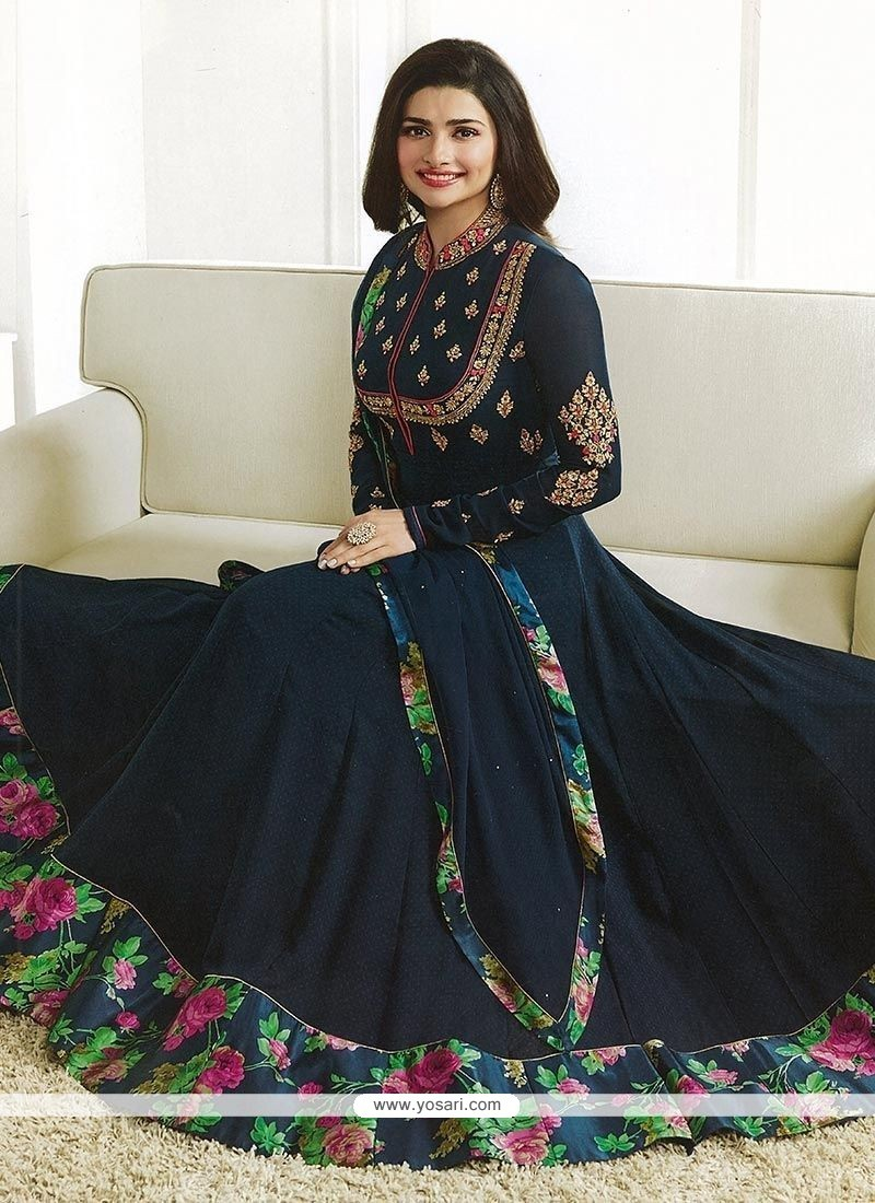 7e6a254e7d Buy Prachi Desai Green Floor Length Anarkali Suit | Anarkali Suits
