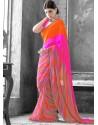 Multicolor Georgette Saree