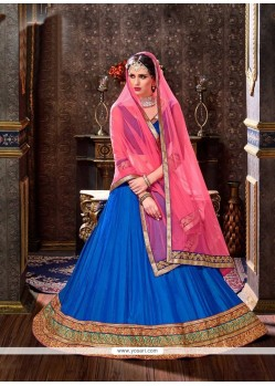 Art Silk Lace Work Lehenga Choli
