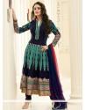 Preity Zinta Blue Faux Georgette Anarkali Salwar Suit