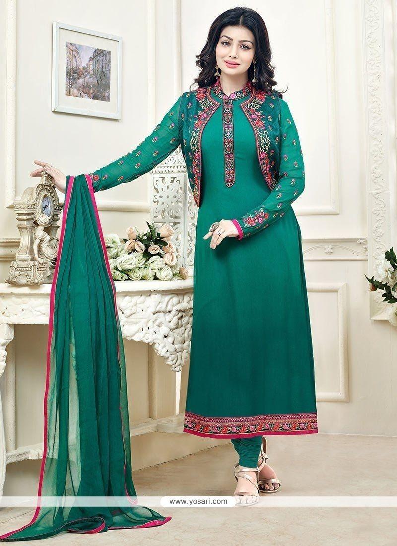 Buy Ayesha Takia Faux Georgette Jacket Style Suit | Designer Salwar ...