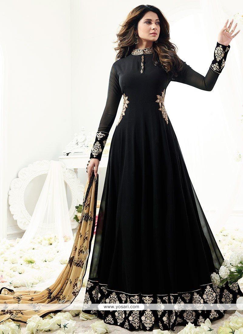 22573d09af Buy Jennifer Winget Black Floor Length Anarkali Suit | Anarkali Suits
