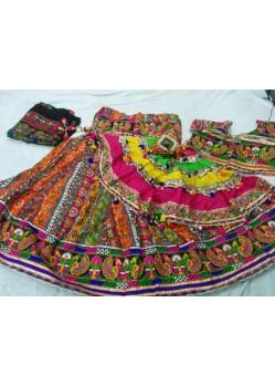 Multi Color Ghagra Choli For Navratri