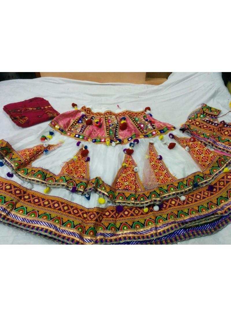 40b194981 Buy Online Cotton White Navratri Ghagra Choli