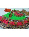 Green Cotton Navratri Ghagra Choli