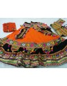 Orange Patch Work Ghagra Choli