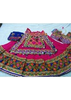 Pink Embroidered Navratri Chania Choli