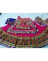 Pink Embroidered Navratri Chania Choli