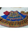 Blue Border Patch Work Ghagra Choli