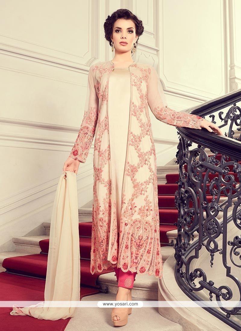 36c806d2b2 Buy Net Embroidered Work Designer Suit | Pakistani Suits