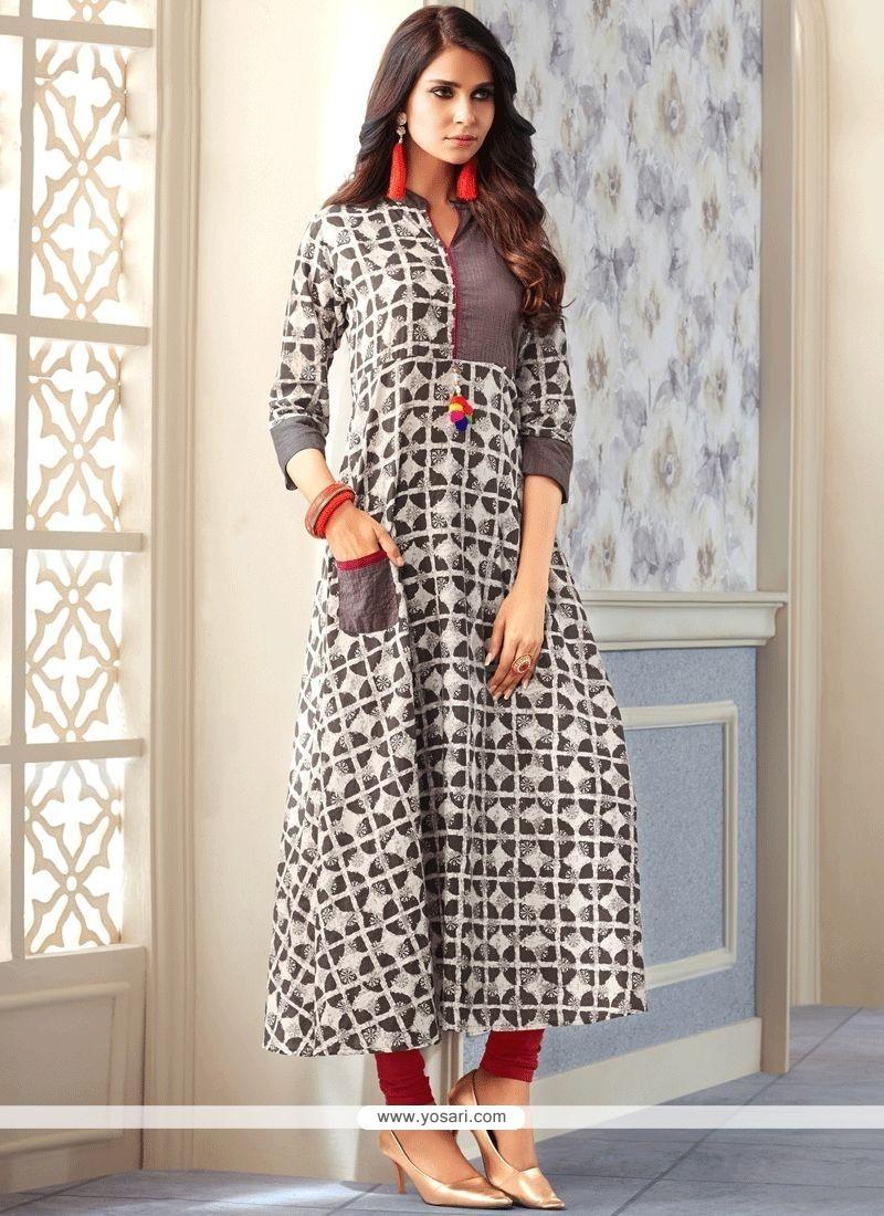 7b3112746 Buy Print Work Cotton Party Wear Kurti | Party Wear Kurtis