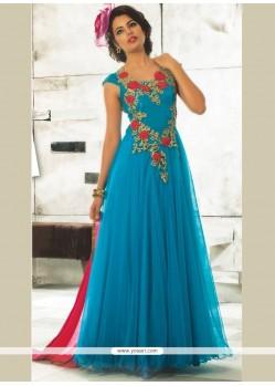 Net Blue Designer Gown