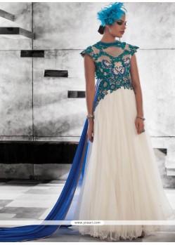 Net Resham Work Designer Gown