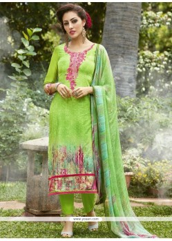 Cotton Embroidered Work Pant Style Suit