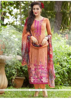 Embroidered Work Cotton Pant Style Suit