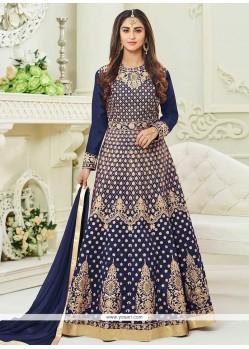 Krystle Dsouza Lace Work Tafeta Silk Floor Length Anarkali Suit