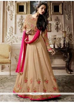 Malaika Arora Khan Faux Georgette Embroidered Work Floor Length Anarkali Suit