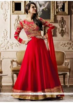 Malaika Arora Khan Red Floor Length Anarkali Suit
