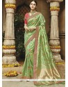 Art Silk Green Weaving Work Designer Traditional Saree