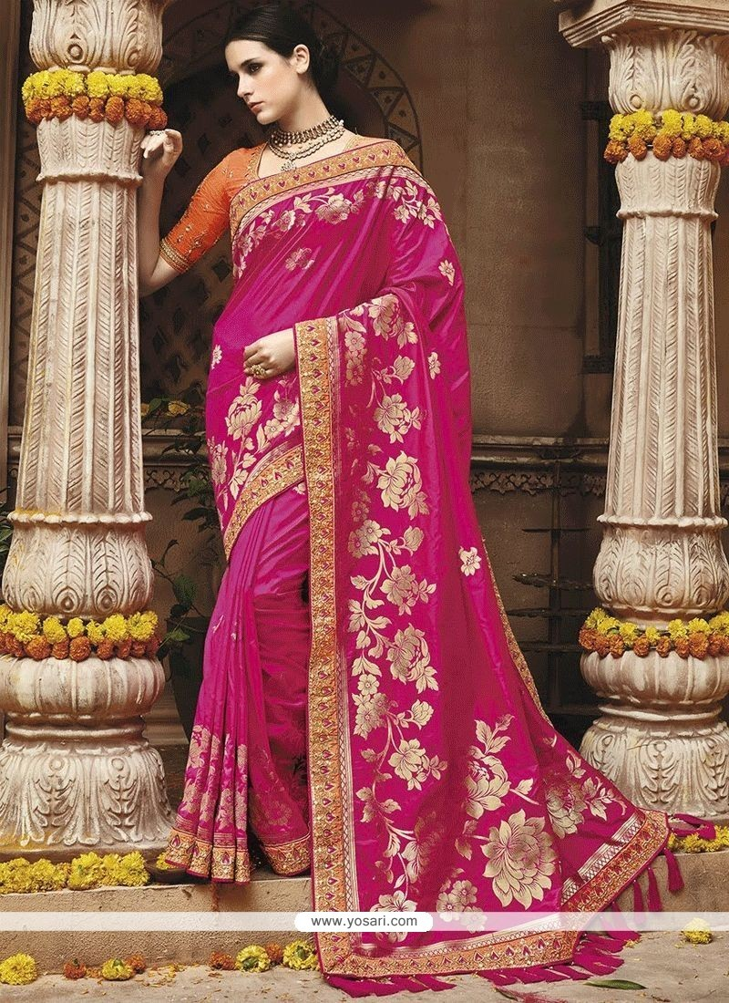 Rani Weaving Work Art Silk Traditional Saree