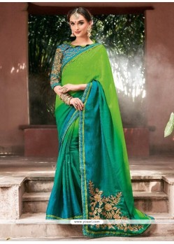 Shaded Saree For Party