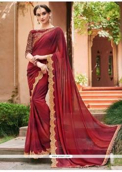 Maroon Classic Designer Saree