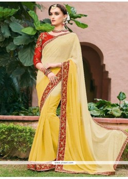 Yellow Shaded Saree