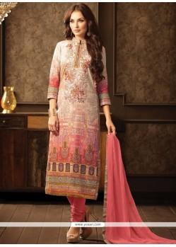 Embroidered Work Cotton Churidar Designer Suit