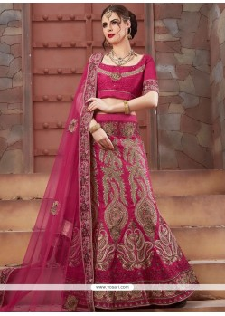 Rani Patch Border Work Lehenga Choli