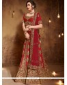 Red Art Silk Lehenga Choli