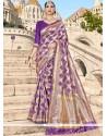 Banarasi Silk Purple Traditional Saree