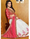 Red And White Net Designer Lehenga Choli