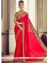Red Art Silk Traditional Saree