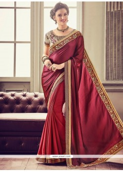 Art Silk Embroidered Work Designer Traditional Saree