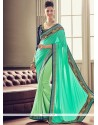 Art Silk Patch Border Work Designer Traditional Saree