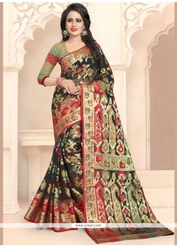 Banarasi Silk Black Traditional Designer Saree