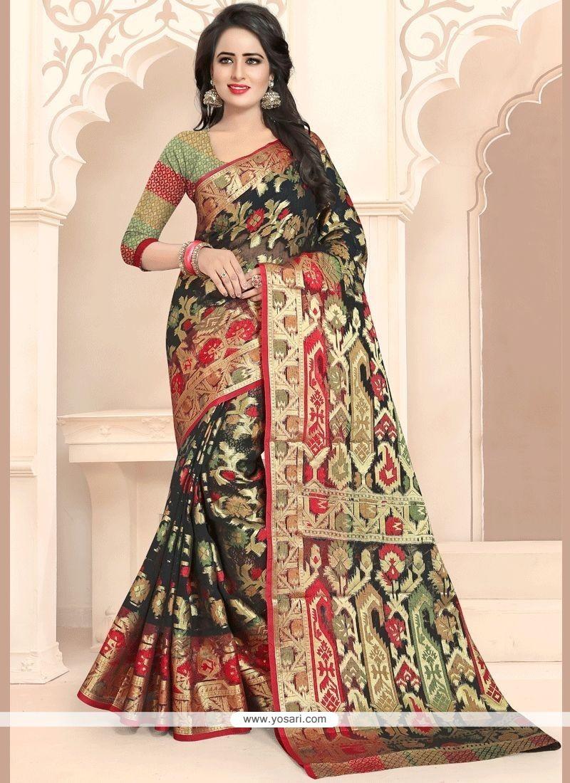 Banarasi Silk Black Traditional Designer Saree