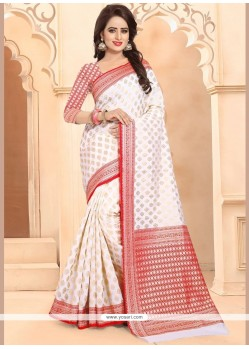 Banarasi Silk Weaving Work Traditional Saree