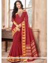 Maroon Traditional Designer Saree