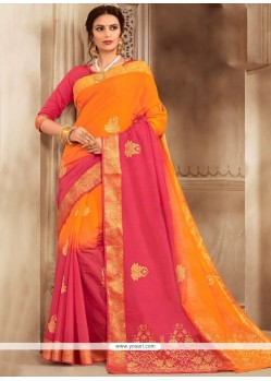 Jacquard Print Work Traditional Designer Saree