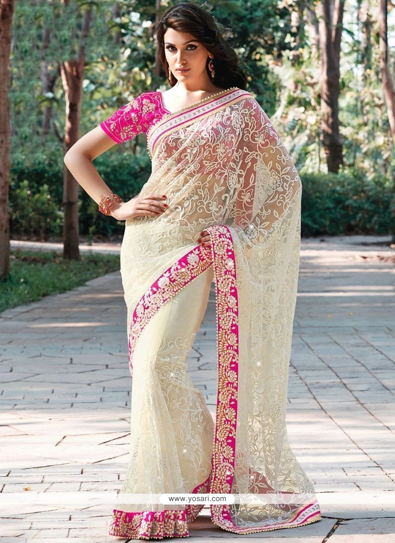 fe0025d170 Buy Net White Designer Saree | Wedding Sarees