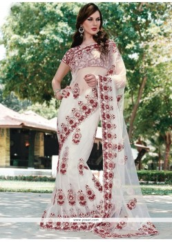 Net Patch Border Work Classic Designer Saree