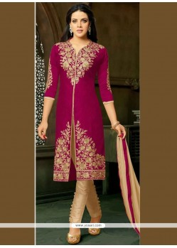 Resham Work Art Silk Pant Style Suit