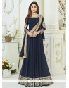 Krystle Dsouza Navy Blue Floor Length Anarkali Suit