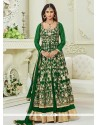 Krystle Dsouza Green Floor Length Anarkali Suit