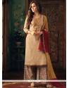 Cotton Embroidered Work Designer Palazzo Suit