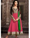 Karishma Kapoor Pink Georgette Anarkali Suit