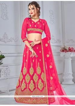 Net Rose Pink Lehenga Choli