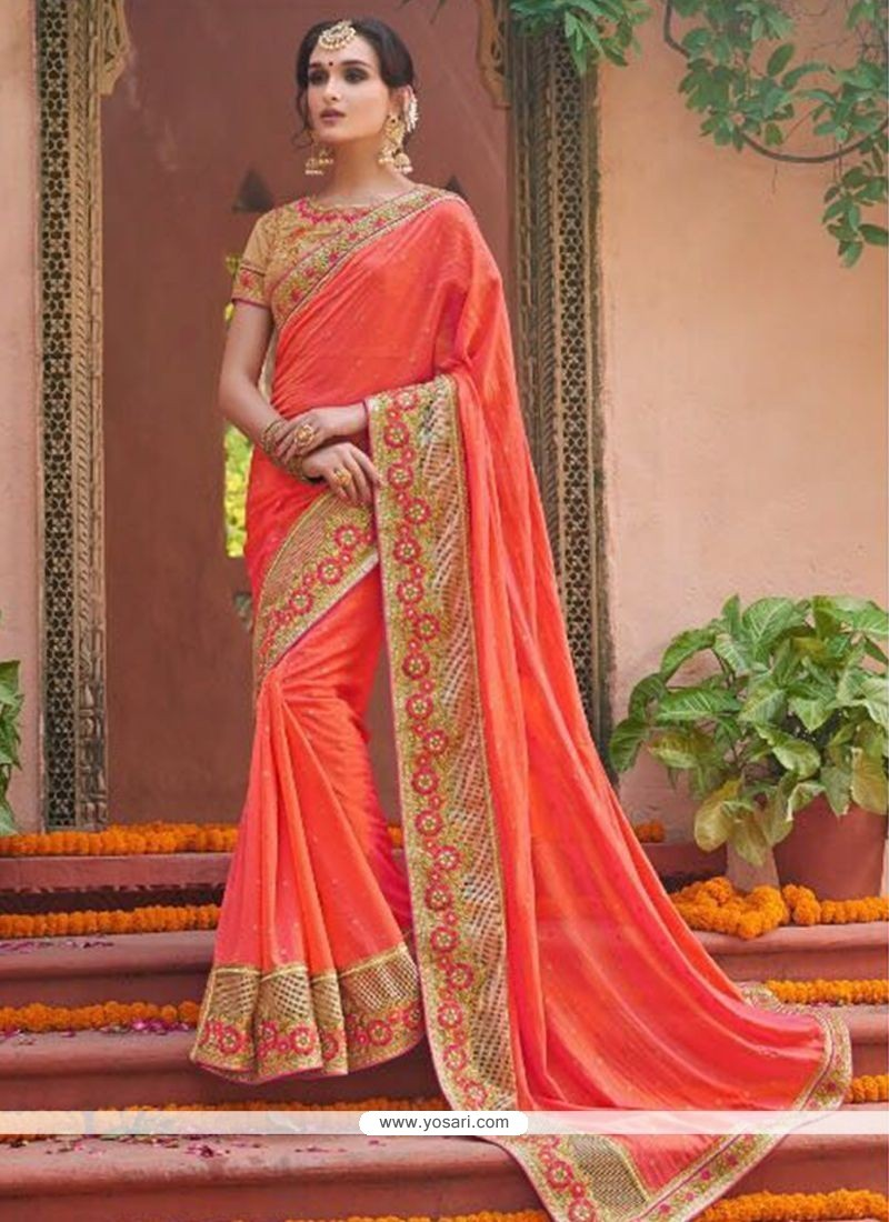 b9a9243577 Buy Resham Work Fancy Fabric Classic Designer Saree | Wedding Sarees