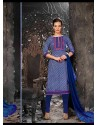 Blue Lawn Cotton Salwar Kameez